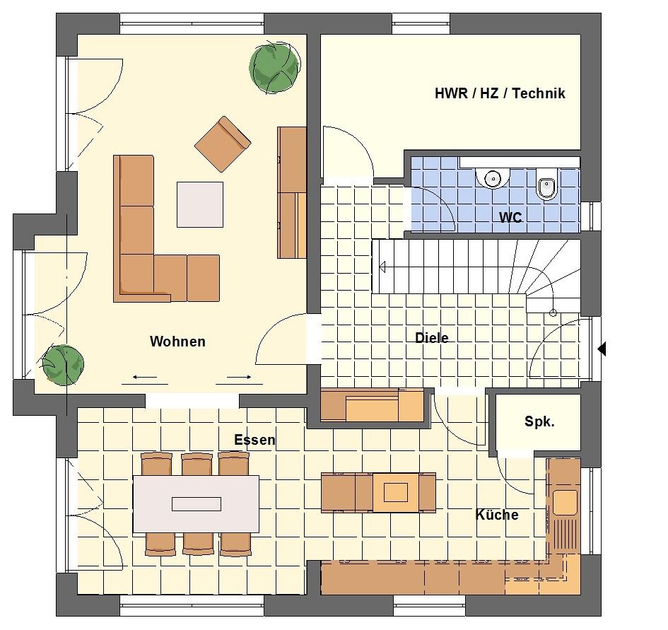 Rb immobilien ein klasse massivhaus f r die familie in for Floor plans for 160 000
